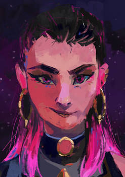 commission for pixiepie - Reyna's portrait