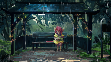 commission for Rilin - Waiting for Rain to Pass