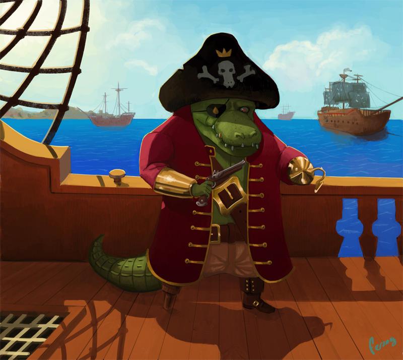 Croco Pirate by Ferzog