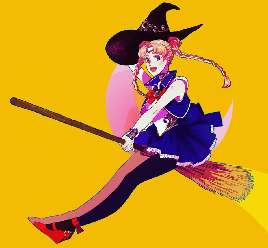 witch usagi by raichuuuu