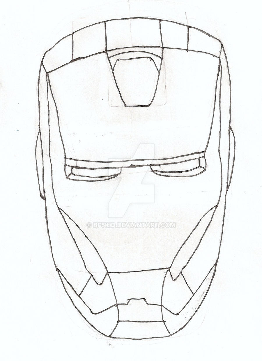 Ironman Helmet Drawing Iron Man 3 Helmet Drawing