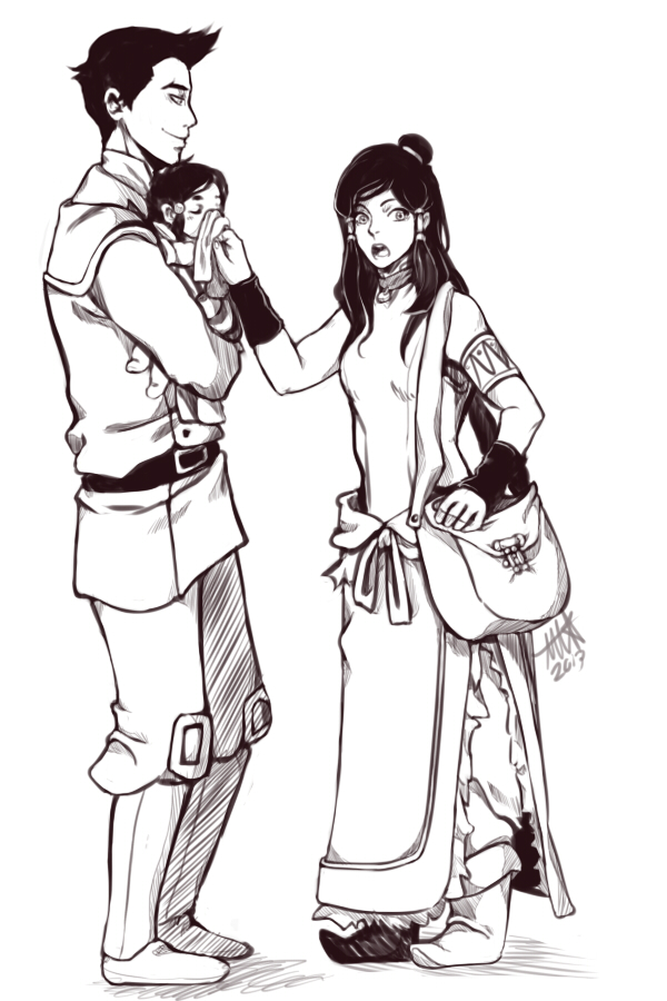 Makorra: Family Outing by NyaNanaX on DeviantArt