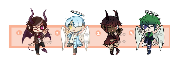 Collab Angel/Devil Adopts [4/4 OPEN] by life-ul