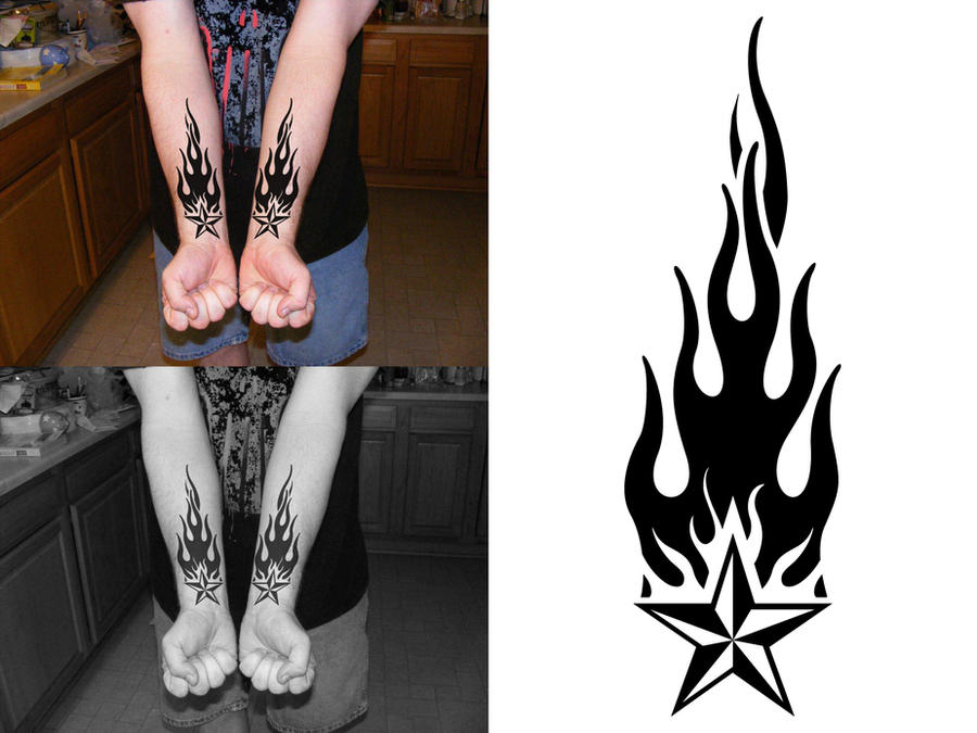 Todd's Forearm Flame Tattoo by PacoDe79