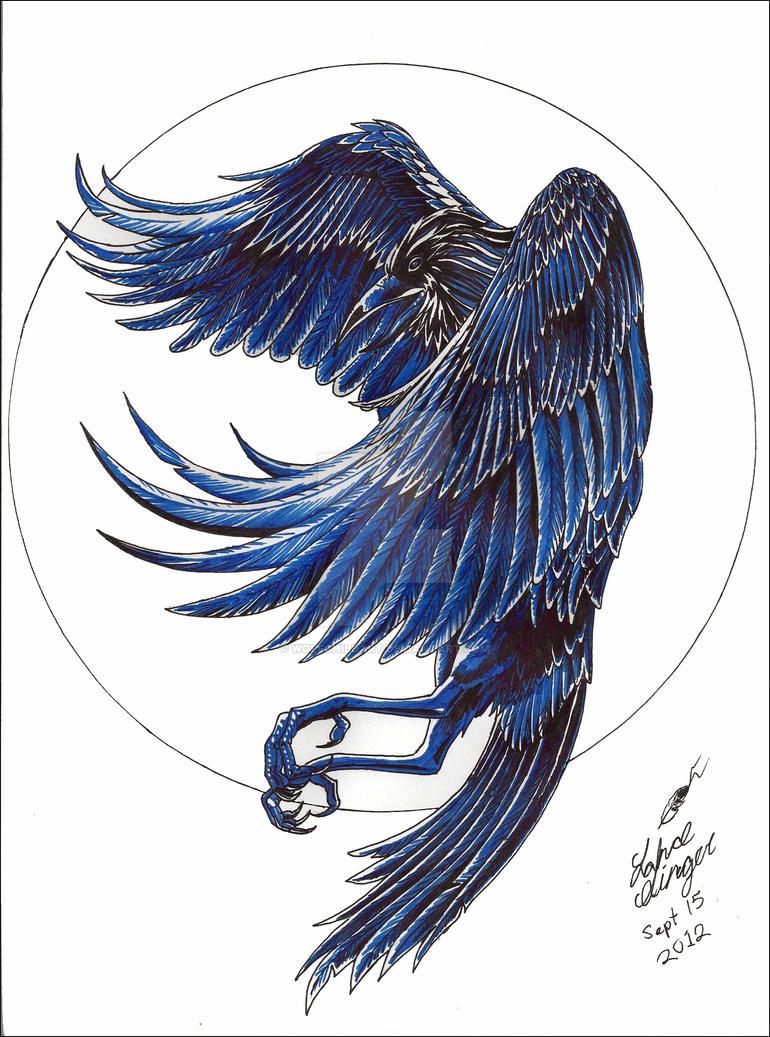Flying Raven By WolfChildArt On DeviantArt