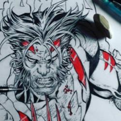 Sketch Wolverine art by Aldir Rocha