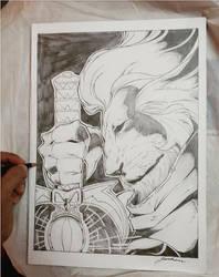 Sketch Lion Thundercats art by Aldir Rocha