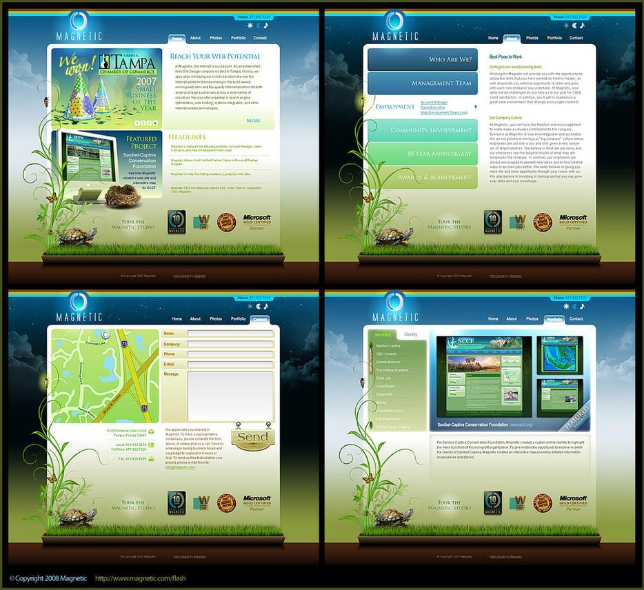 Magnetic Flash Website by DerekProspero