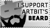I SUPPORT ARTBIT'S BEARD by 3K-more