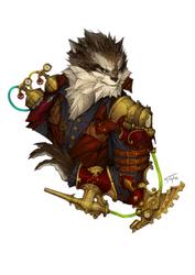 Steampunk Werewolf by n-pigeon