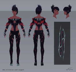 Saibri Sciitar - DPS Obsessed Fantasy Girl Sheet by n-pigeon