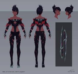 Saibri Sciitar - DPS Obsessed Fantasy Girl Sheet