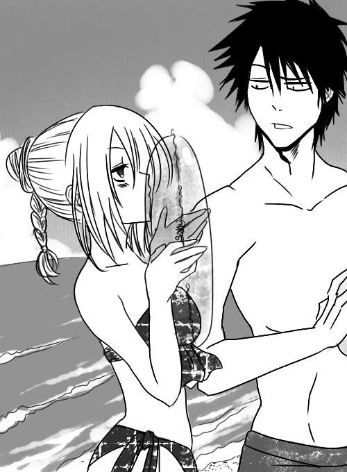 Beelzebub Romance Thread - Page 2 Beach_kiss_tatsugarde_by_saku_shii-d52w085