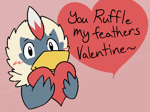 Rufflet Valentine by BuizelKnight