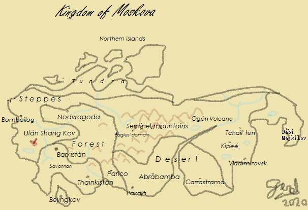 Map of Moskova (English)