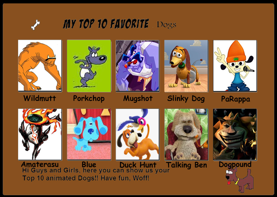 top 10 favorite dogs by racefan2464 on deviantart my top