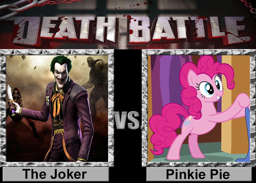 Death Battle: Joker vs Pinkie Pie by porygon2z