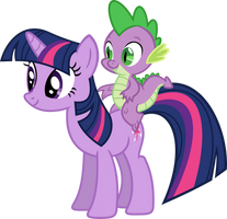 Just Twilight and Spike by Porygon2z