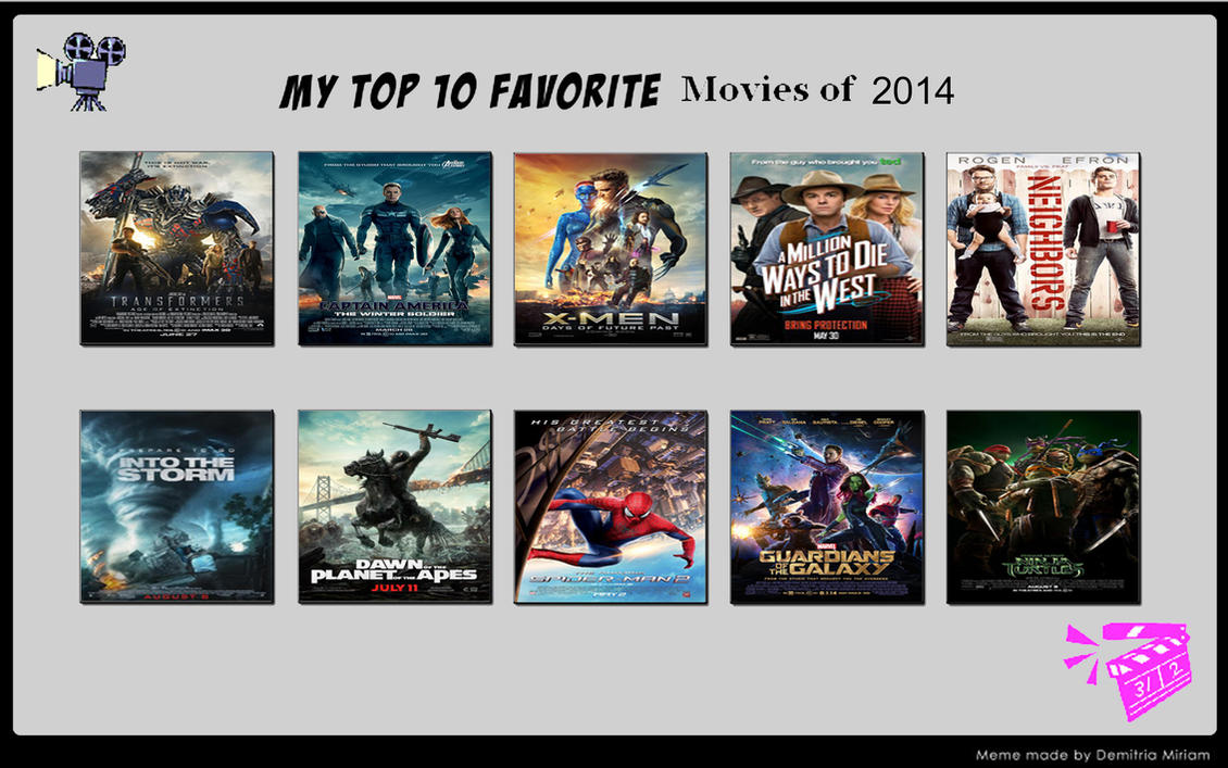 My top ten best movies of 2014 by porygon2z