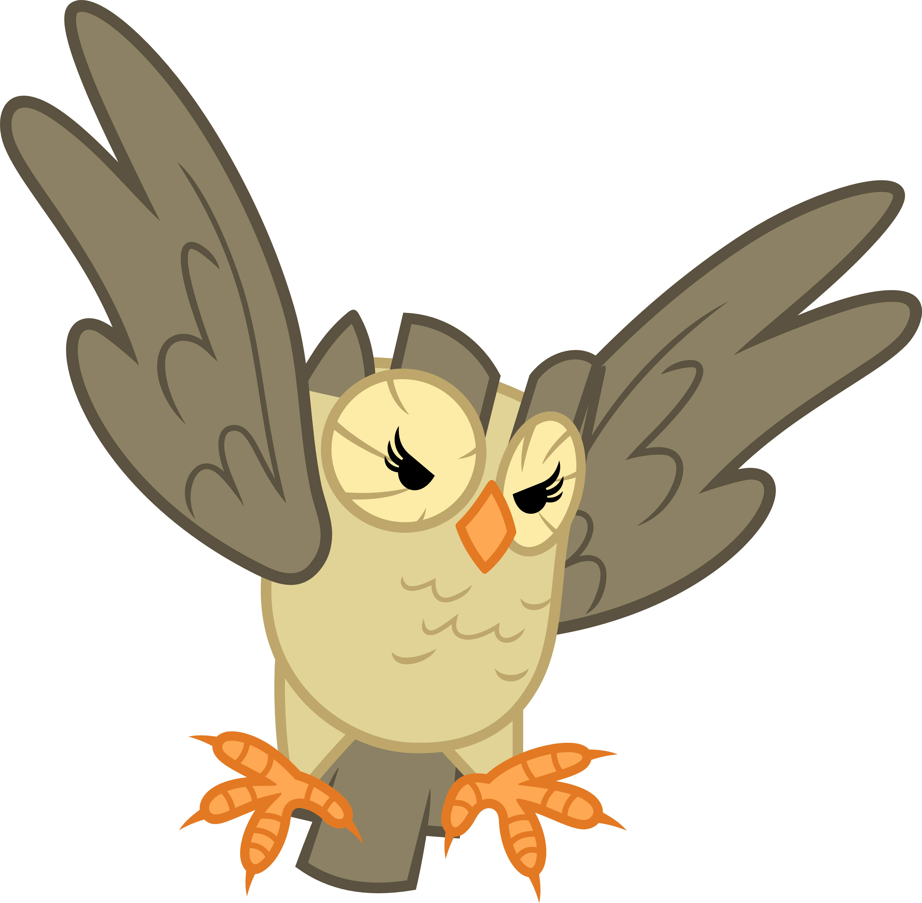 this owl has claws by porygon2z on deviantart
