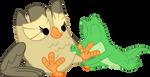 Gummy cuddle birdy feet by Porygon2z