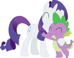 Rarity is the only mare Spike will ever need