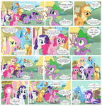 Spike loves the mane 6 more than anypony