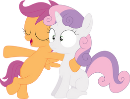 Sweetie Belle and i are like sisters by Porygon2z