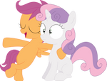 Sweetie Belle and i are like sisters