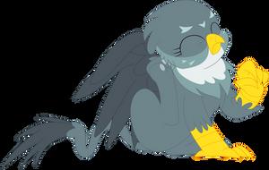 An itchy griffon (Gabby) by Porygon2z
