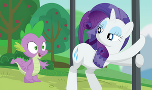 Spike loves sexy Rarity