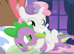 Come here and let me cuddle you, Spike!