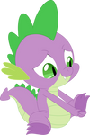 Look at my cute foot (Spike) by Porygon2z