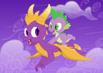 Flight of the purple dragons