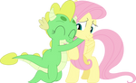 Her first hug from a teenage dragon by Porygon2z