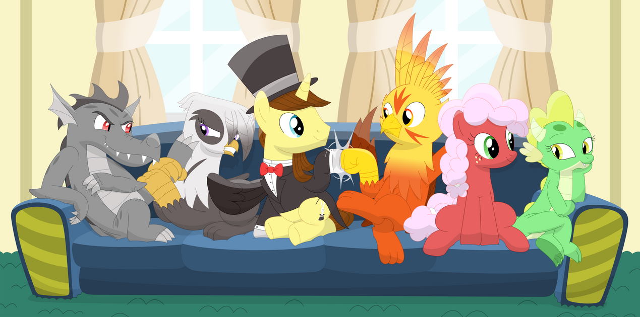 A Couch Full Of Friends Original Six By Porygon2z On Deviantart
