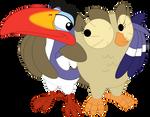 Aloysius' new birdy buddy by Porygon2z
