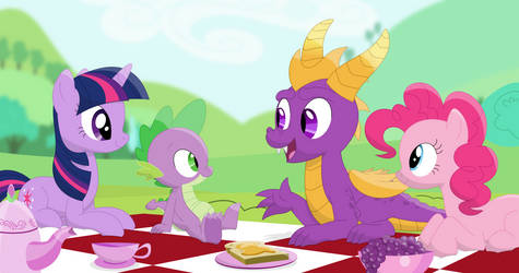Spyros welcoming picnic by Porygon2z