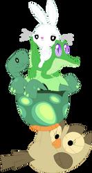 A quadruple pet stack by Porygon2z