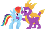 Rainbow, you're the coolest pegasus i ever seen by Porygon2z