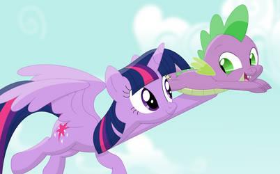 Look, Twilight, i'm flying! by Porygon2z