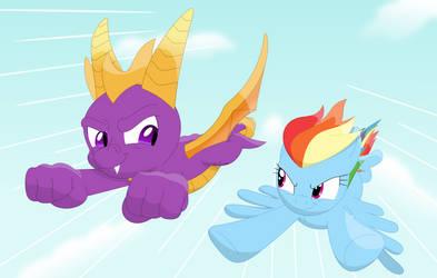 Pegasus wings vs dragon wings by Porygon2z