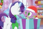Raritys surprise Christmas gift by Porygon2z