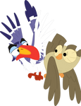 Bird bro booty bump by Porygon2z