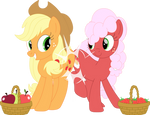 Apples and strawberries by Porygon2z