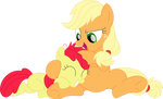 Let me introduce my orange hoof to your red mane by Porygon2z