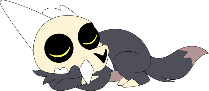 A sleepy little demon