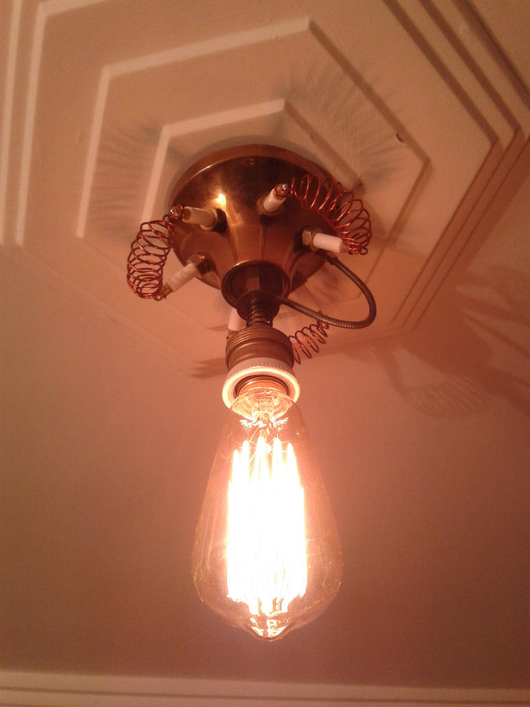 steampunk lamp by pulsiondemort