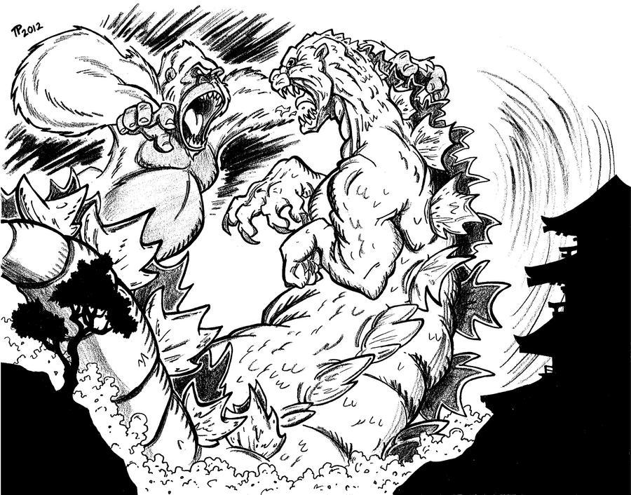 King Kong vs. Godzilla by Snipetracker on DeviantArt