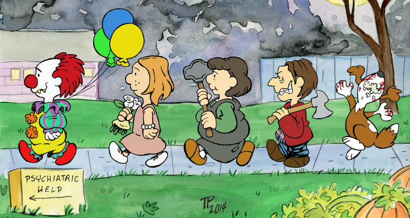 Stephen King Meets Charles Schulz by Snipetracker